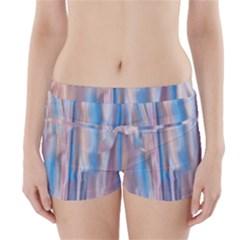 Vertical Abstract Contemporary Boyleg Bikini Wrap Bottoms