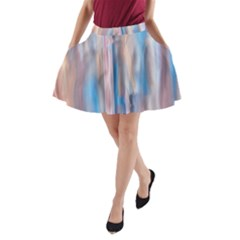 Vertical Abstract Contemporary A-Line Pocket Skirt