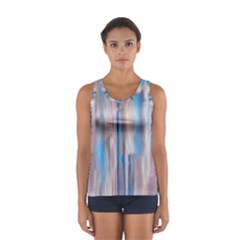 Vertical Abstract Contemporary Women s Sport Tank Top