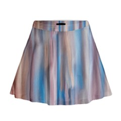 Vertical Abstract Contemporary Mini Flare Skirt