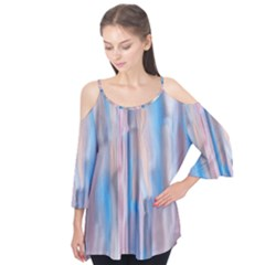 Vertical Abstract Contemporary Flutter Tees