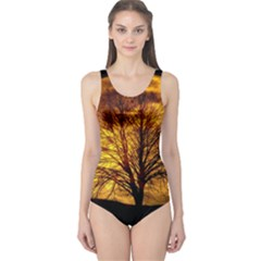 Moon Tree Kahl Silhouette One Piece Swimsuit