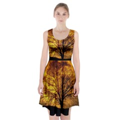 Moon Tree Kahl Silhouette Racerback Midi Dress