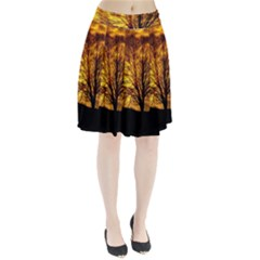 Moon Tree Kahl Silhouette Pleated Skirt