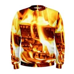 Fire Flame Wood Fire Brand Men s Sweatshirt