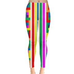 Rainbow Geometric Design Spectrum Leggings