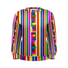 Rainbow Geometric Design Spectrum Women s Sweatshirt