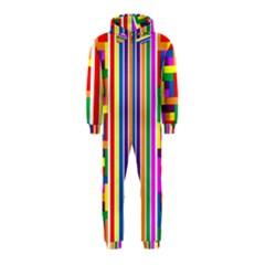 Rainbow Geometric Design Spectrum Hooded Jumpsuit (Kids)