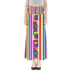 Rainbow Geometric Design Spectrum Maxi Skirts