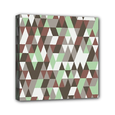 Pattern Triangles Random Seamless Mini Canvas 6  x 6