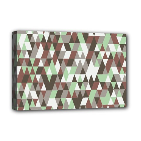 Pattern Triangles Random Seamless Deluxe Canvas 18  x 12