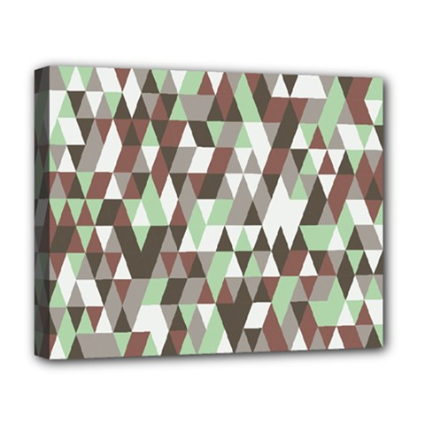 Pattern Triangles Random Seamless Deluxe Canvas 20  x 16