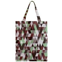 Pattern Triangles Random Seamless Zipper Classic Tote Bag