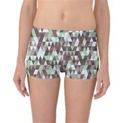 Pattern Triangles Random Seamless Boyleg Bikini Bottoms