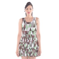 Pattern Triangles Random Seamless Scoop Neck Skater Dress