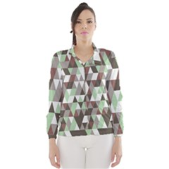 Pattern Triangles Random Seamless Wind Breaker (Women)