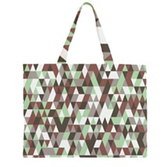 Pattern Triangles Random Seamless Large Tote Bag
