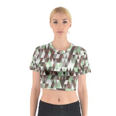 Pattern Triangles Random Seamless Cotton Crop Top