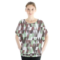 Pattern Triangles Random Seamless Blouse