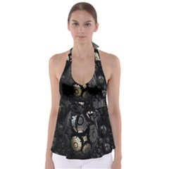 Fractal Sphere Steel 3d Structures Babydoll Tankini Top
