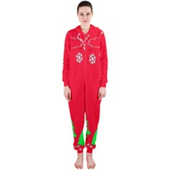 Merry Christmas Hooded Jumpsuit (ladies)