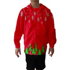 Merry Christmas Hooded Wind Breaker (Kids)