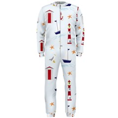 Seaside Beach Summer Wallpaper OnePiece Jumpsuit (Men)