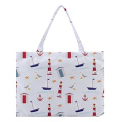 Seaside Beach Summer Wallpaper Medium Tote Bag