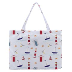 Seaside Beach Summer Wallpaper Medium Zipper Tote Bag