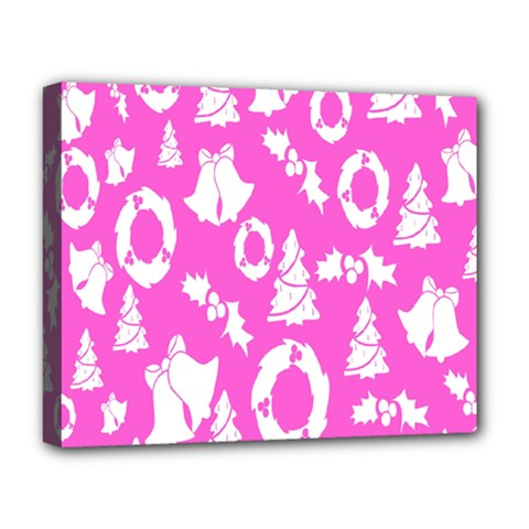 Pink Christmas Background Deluxe Canvas 20  x 16