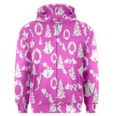 Pink Christmas Background Men s Zipper Hoodie