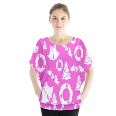 Pink Christmas Background Blouse