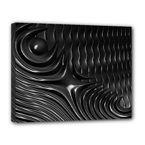 Fractal Mathematics Abstract Canvas 14  x 11