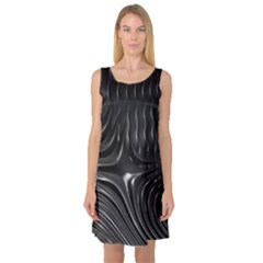 Fractal Mathematics Abstract Sleeveless Satin Nightdress