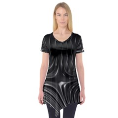 Fractal Mathematics Abstract Short Sleeve Tunic