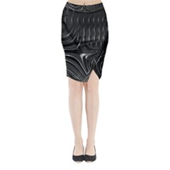 Fractal Mathematics Abstract Midi Wrap Pencil Skirt