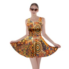 Ethnic Pattern Skater Dress