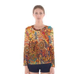 Ethnic Pattern Women s Long Sleeve Tee