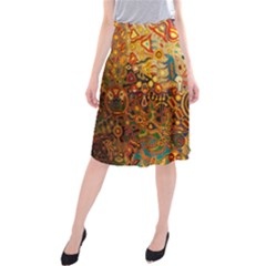 Ethnic Pattern Midi Beach Skirt