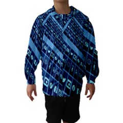 Mobile Phone Smartphone App Hooded Wind Breaker (Kids)