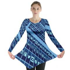 Mobile Phone Smartphone App Long Sleeve Tunic