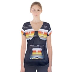 Interior Car Vehicle Auto Short Sleeve Front Detail Top