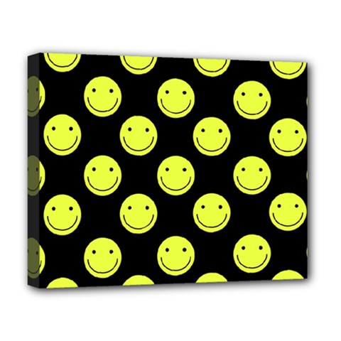 Happy Face Pattern Deluxe Canvas 20  x 16