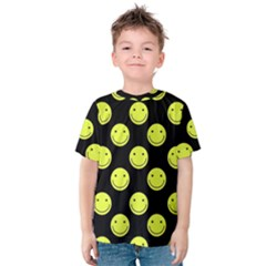 Happy Face Pattern Kids  Cotton Tee