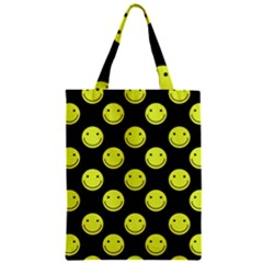 Happy Face Pattern Zipper Classic Tote Bag