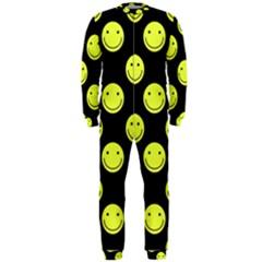 Happy Face Pattern Onepiece Jumpsuit (men)
