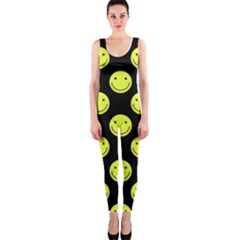 Happy Face Pattern OnePiece Catsuit