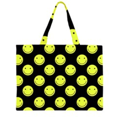 Happy Face Pattern Large Tote Bag
