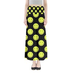 Happy Face Pattern Maxi Skirts