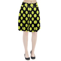 Happy Face Pattern Pleated Skirt